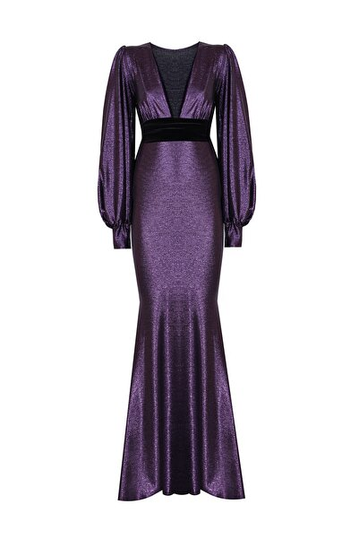 Nunu's Closet by Nur Karaata Kadın Mor Elbise Ncn5