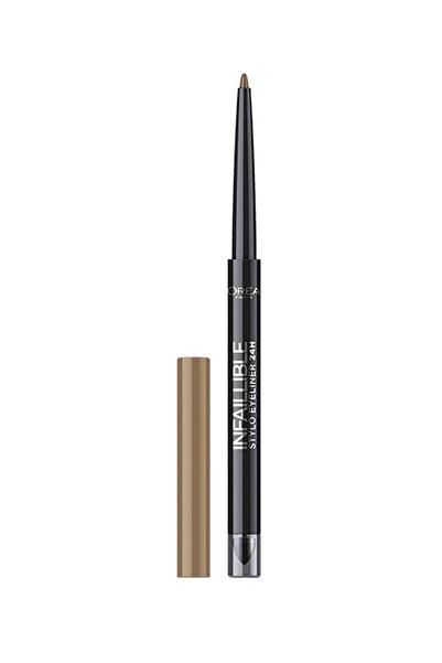 L'Oreal Paris Kahverengi Eyeliner  Infallible Stylo Eyeliner 24h 320 Nude Obsession 3600523163496