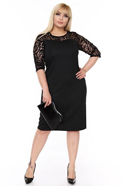Moday Kadın Siyah Elbise 17774