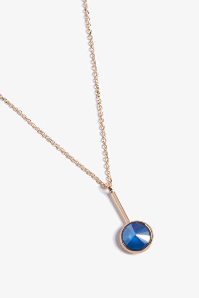 Lapidore Ra Blue Swarovski Taşlı Kolye LTK300161