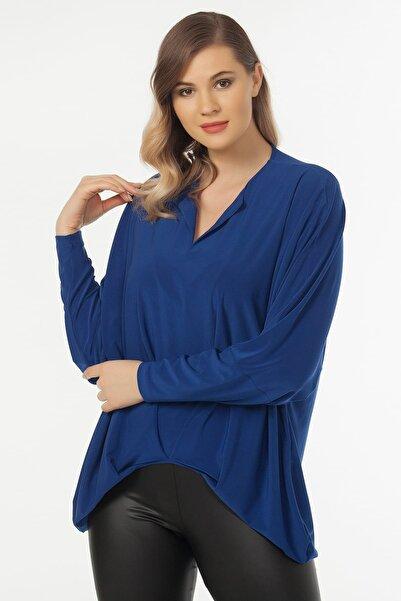 Laranor Kadın Saks Yaka Detaylı Bluz 19LB9174