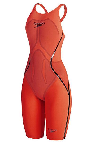 SPEEDO Lzr Racer X Openback Kneeskin Kadın Yarış Mayosu - Turuncu