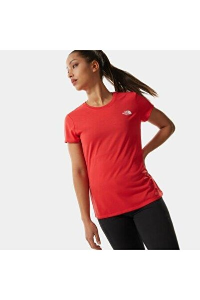THE NORTH FACE Kadın Kırmızı T-Shirt