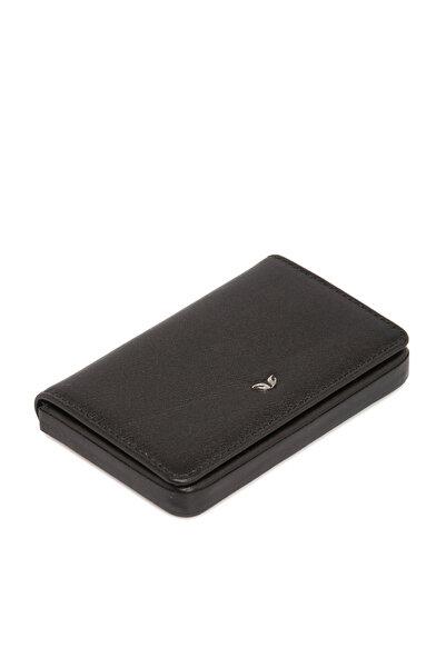 Tergan Hakiki Deri Siyah Unisex Kart Vizitlik S1KV00001546