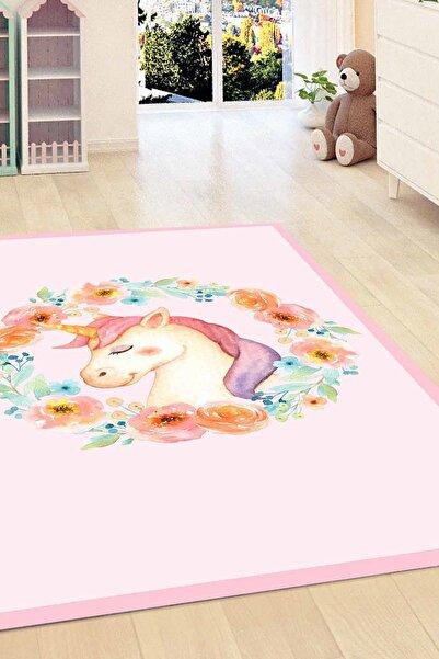Else Halı 120X180 Kadser Çiçekli Unicorn Atli 3D Modern Çocuk Odasi Halisi