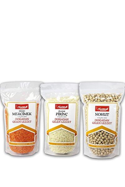Kuzeyli Gıda Muhteşem 3'lü 2 - 1 kg Pirinç (yerli)  1 kg Nohut (yerli) 1 kg Kırmızı Mercimek (yerli)