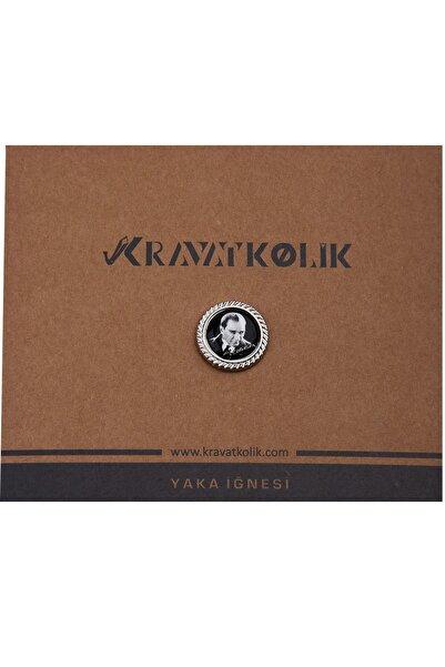 La Pescara Erkek Siyah Renk Atatürk Yaka İğnesi YI315 KRVT8690002221889