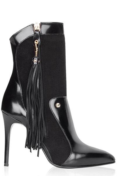 Just Cavalli Kadın Siyah Topuklu Bot