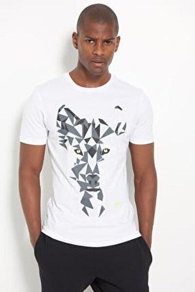 Erkek T-shirt - Wolf - V-MTT902-WT
