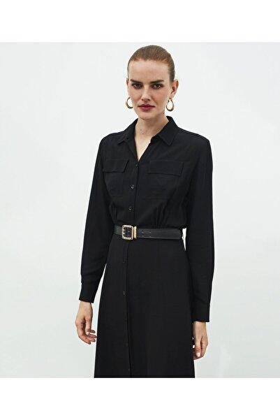 İpekyol Kuşaklı Gömlek Elbise