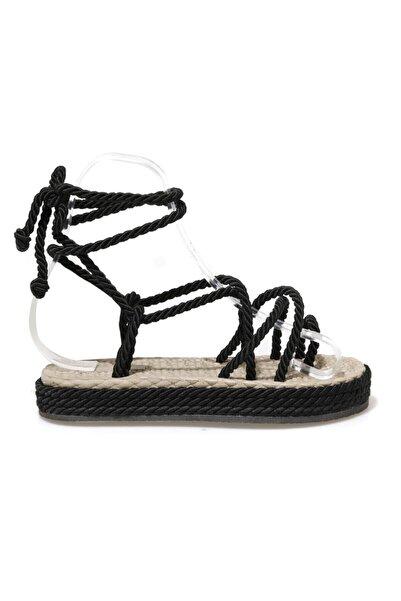 Butigo NAVİ 1FX Siyah Kadın Sandalet 101044133