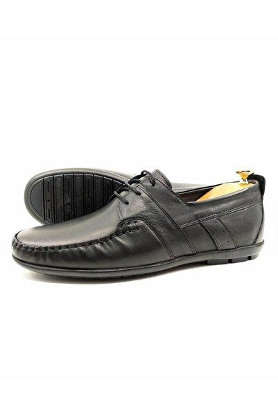 DeepSEA Siyah Erkek Kaucuk Tabanlı Bağcıklı Deri Ayakkabı 2104501