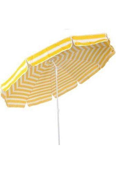 PERKA 2 metre Plaj Şemsiyesi 10 Telli Eğilebilir