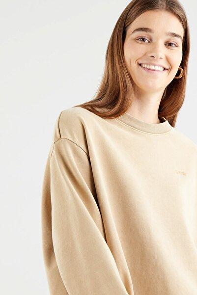 Levi's Melrose Slouchy Crew Incense Garment Dye Nötr Kadın Sweatshirt