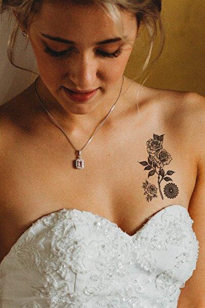 TAKIŞTIR Geçici Gül Mini Dövme Tattoo
