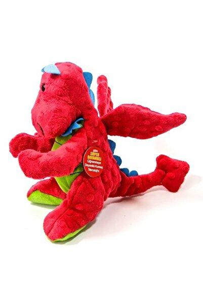 ingatoys Dinozor Peluş 23 Cm Süper Dayanıklı Köpek Oyuncağı Kırmızı Dinazor 23 Cm Peluş