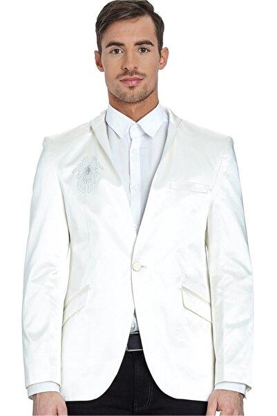 Dewberry Erkek Beyaz Ceket - 10111Y009150.