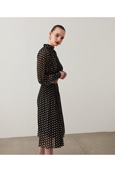 İpekyol Puantiye Desen Pilisoley Elbise