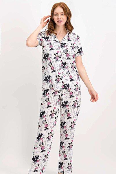 DISNEY Kadın Gömlek Pijama Takımı