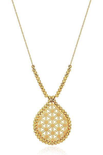 Altınbaş Kadın 22 Ayar Altın Yaşam Çiçeği Kolye KLSS032-24875