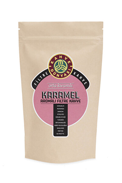 Kahve Dünyası Karamel Aromalı Filtre Kahve  Kağıt Filtre Çekim 250 gr