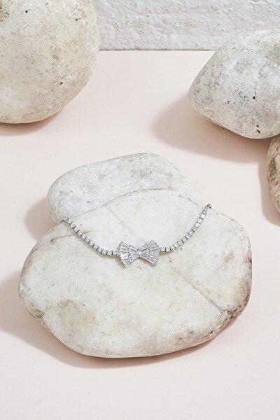 ZİNDİ Kadın Taşlı Bileklik Gümüş Rengi K-3051053-040