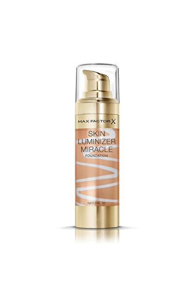 Max Factor Aydınlatıcı Etkili Fondöten - Skin Luminizer Miracle Foundation 50 Natural 30 ml 4084500158702