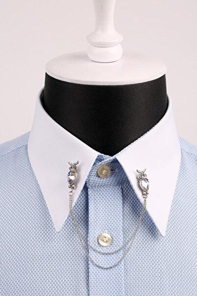 La Pescara Baykuş Figürlü Gümüş Renk Gömlek Yaka İğnesi GI024