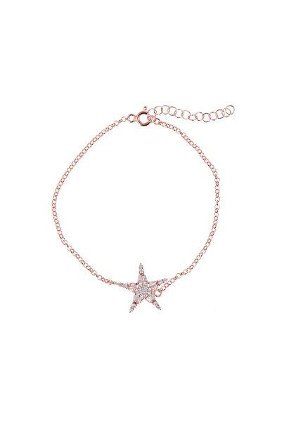 Coquet Accessories Kadın Baget Yıldız Gümüş Bileklik 19G9U08C1779