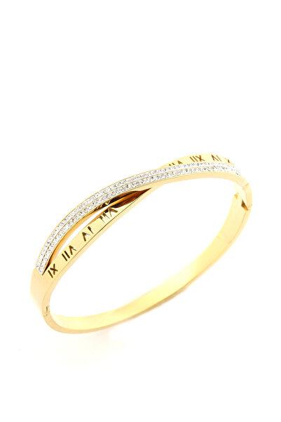 Welch Kadın Gold Roma Rakamlı Çelik Bileklik 6538-CC555