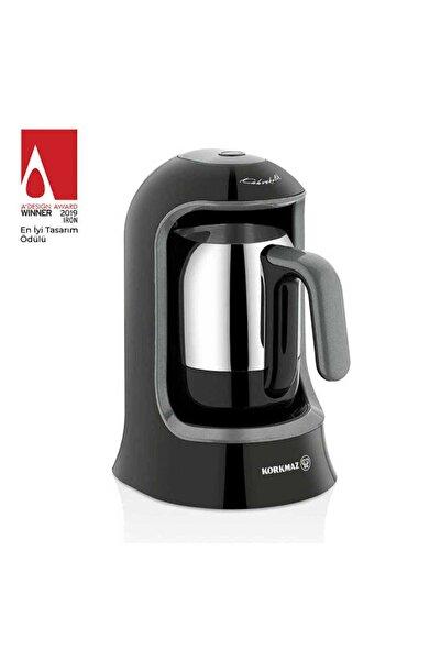 KORKMAZ A860-05 Korkmaz Kahvekolik Siyah Otomatik Kahve Makinesi