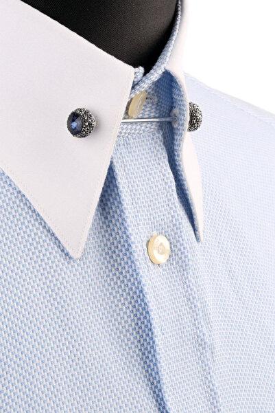 La Pescara Lacivert Taşlı Gömlek Yaka İğnesi GI165
