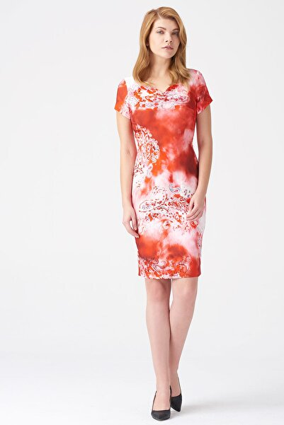 Naramaxx Kadın Desenli Elbise 17K11112Y838
