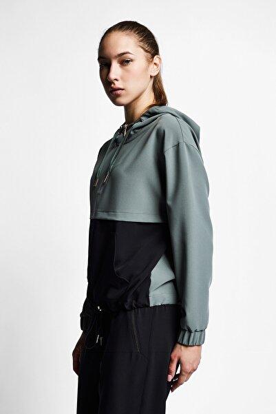 Lescon Kadın Yeşil Fermuarlı Kapüşonlu Üst 21b-2025