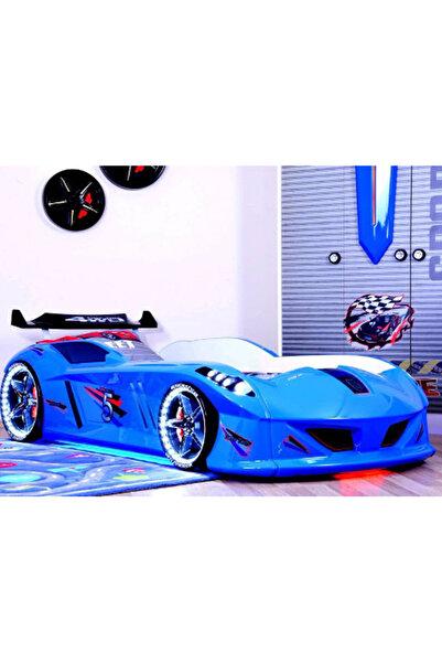 Setay Jaguar Arabalı Yatak Mavi Full Ledli
