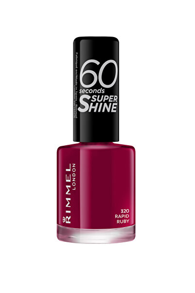 RIMMEL LONDON Oje - 60 Seconds Super Shine 320 Rapid Ruby 3614220616865