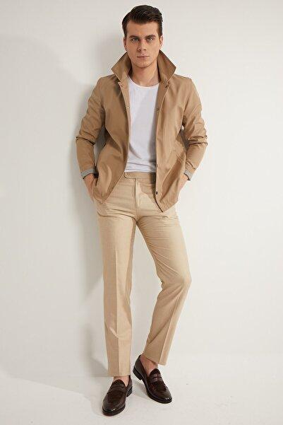 Fc Plus Erkek Bej Desenli Pantolon