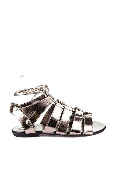 İnci Hakiki Deri Koyu Antrasit Kadın Sandalet 120120080010
