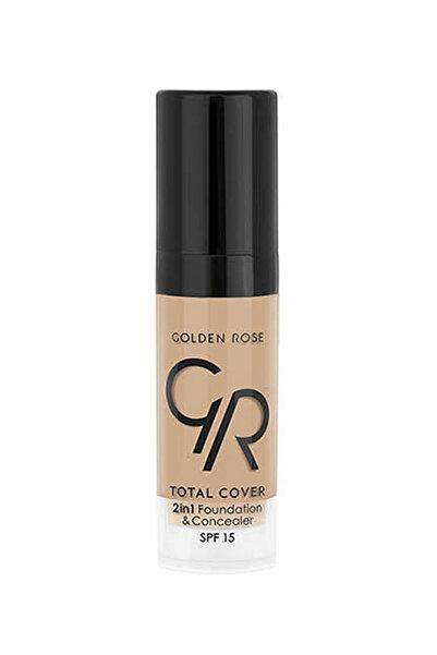 Golden Rose Fondöten & Kapatıcı - Total 2 in 1 Foun. & Conc. Mini Boy 6,5 ml 115 8691190964054