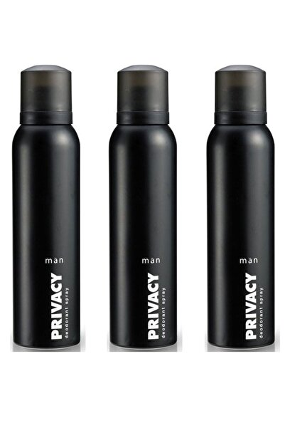 Privacy 3 x 150 ml 3'lü Erkek Deodorant 504517-3