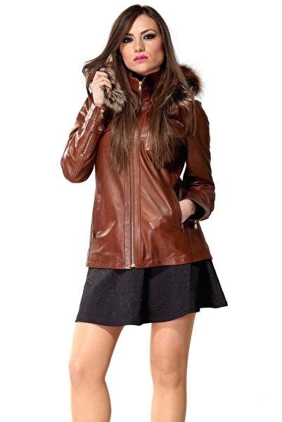 Deriza Kadın Carmen Taba Deri Ceket 2180