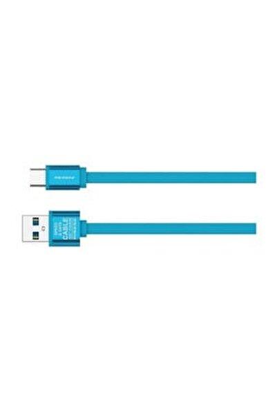 PN-311 Yüksek Hızlı Type C 1 Metre Mavi Data Şarj Kablosu