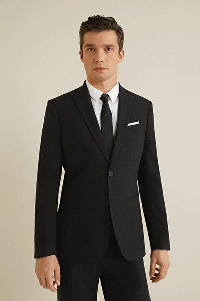MANGO Man Erkek Siyah Dar Kesim Travel Suit Blazer Ceket 43040566