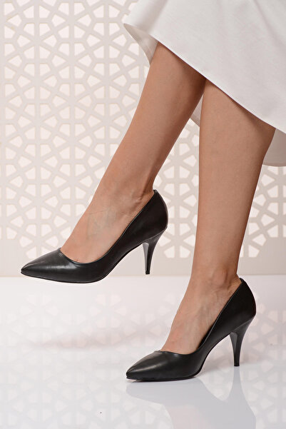 Shoes Time Siyah Kadın Topuklu Ayakkabı 18Y 11905