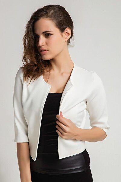 Laranor Kadın Ekru Mini Ceket 16L4725