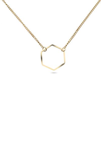 Welch Kadın Gold Beşgen Çelik Kolye 6211-1387