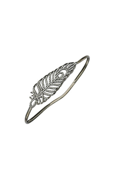 BENDİS Kadın Gümüş Taşlı Yaprak El Bilekliği C347