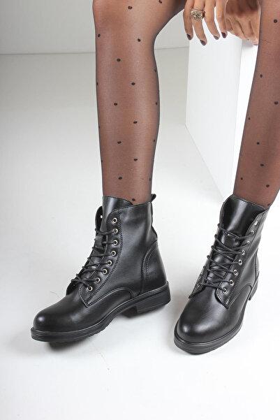 İnan Ayakkabı KADIN SİYAH BOT&BOOTİE&POSTAL KY6090