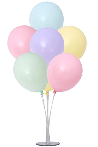 Partifabrik Balon Standı Makaron Balon Demeti Karışık Renk