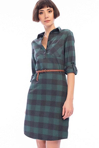 Lee Cooper Kadın River 2 Ekose Uzun Kol Elbise 191 LCF 244003